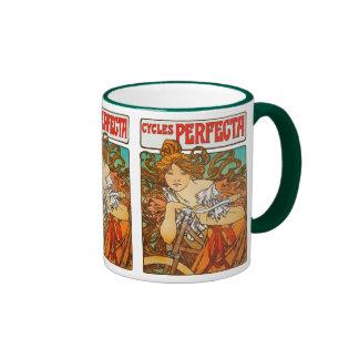 Cycles Perfecta, Alphonse Mucha Art Nouveau Coffee Mug