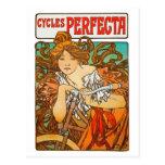 Cycles Perfecta, Alphonse Mucha Art Nouveau Postcards