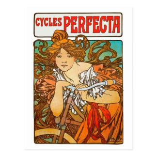 Cycles Perfecta Alphonse Mucha Art Nouveau Postcards