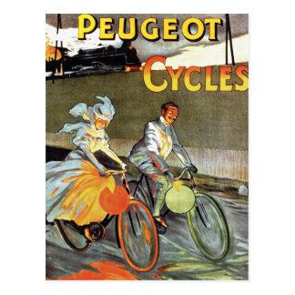 Cycles Peugeot Vintage Bicycle Art Post Card