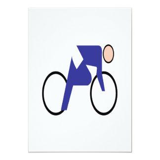 Cycling 2 13 cm x 18 cm invitation card