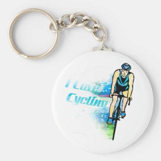 Cycling 5.7cm Basic Button Keychain