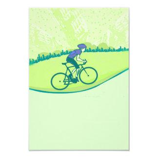 Cycling 9 Cm X 13 Cm Invitation Card