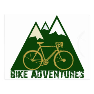 cycling adventure - bikes postcard