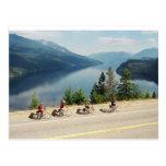 Cycling along Hwy 6 - Slocan Lk - British Columbia Postcards
