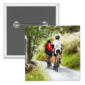 CYCLING 15 CM SQUARE BADGE