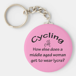 Cycling Basic Round Button Key Ring