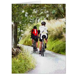 CYCLING BIG GREETING CARD