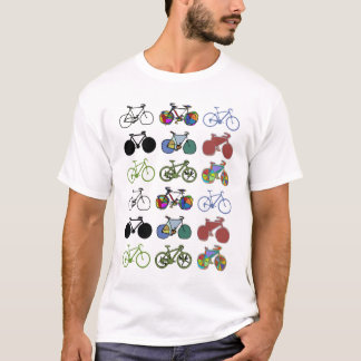 cycling :) biking . color grouped bikes T-Shirt
