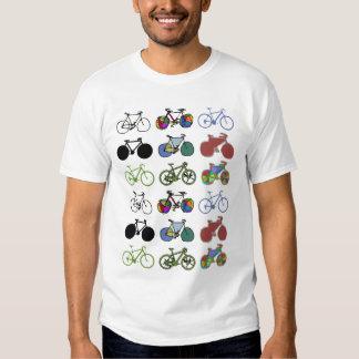 cycling :) biking . color grouped bikes tshirts