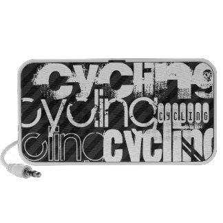 Cycling; Black & Dark Gray Stripes Travel Speaker