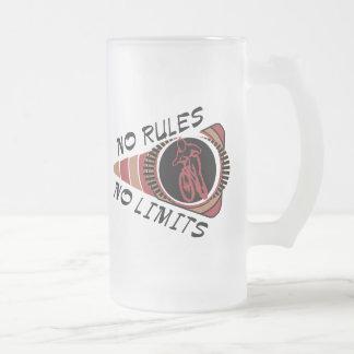 Cycling BMX No Rules No Limits Glass Beer Mug