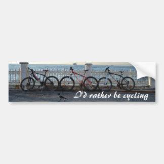 Cycling Bumper Sticker