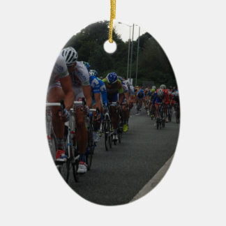 Cycling Ceramic Oval Decoration