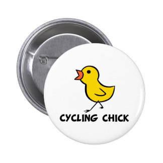 Cycling Chick Button