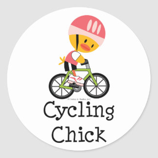 Cycling Chick Stickers