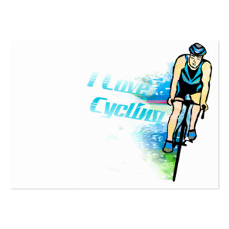 """Cycling Chubby, 3.5"""" x 2.5"""", 100 pack, White Pack Of Chubby Business Cards"""