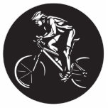 cycling clycer inverse silhouette