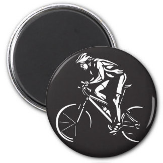 cycling clycer inverse silhouette magnet