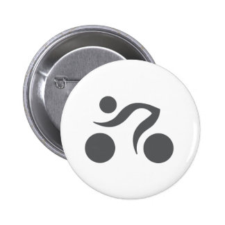 Cycling cool logo 6 cm round badge