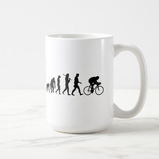 Cycling Cyclists evolution Bicycle Riders Cycle Basic White Mug