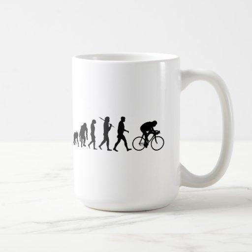 Cycling Cyclists evolution Bicycle Riders Cycle Mug