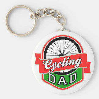 Cycling Dad Basic Round Button Key Ring