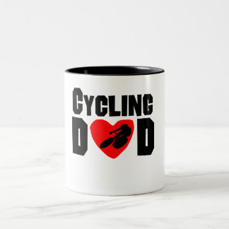 Cycling Dad Two-Tone Coffee Mug