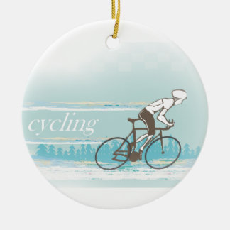 Cycling Decoration Round Ceramic Decoration