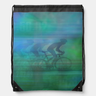 Cycling Design Drawstring Backpack