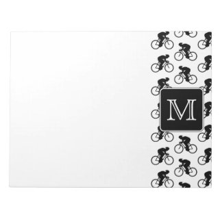 Cycling Design with Custom Monogram Notepad