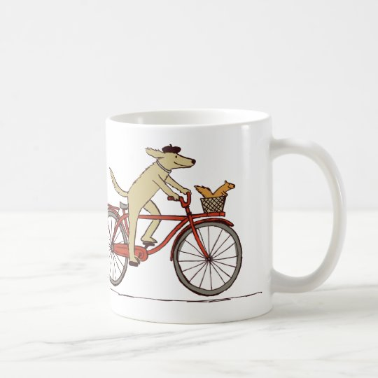 Cycling Dog and Squirrel - Cute Animal Art