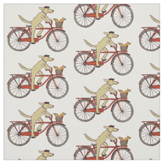 Cycling Dog with Squirrel Fabric