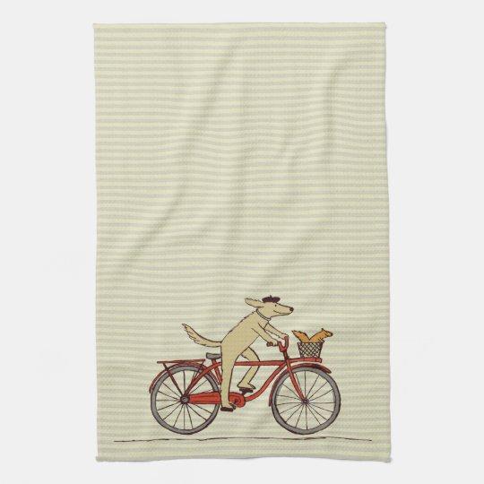 Cycling Dog with Squirrel Friend - Fun Animal