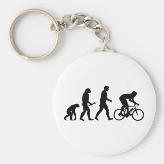 Cycling Evolution Basic Round Button Key Ring
