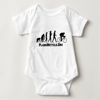Cycling evolution College Style PlanoBicycle Logo Baby Bodysuit