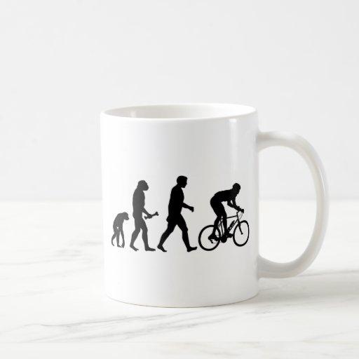 Cycling Evolution Coffee Mugs