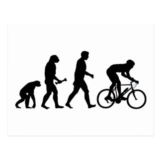 Cycling Evolution Postcard