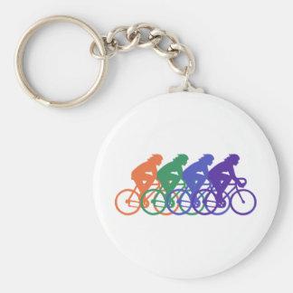 Cycling (female) keychain