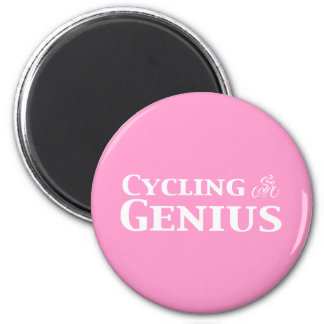 Cycling Genius Gifts 6 Cm Round Magnet