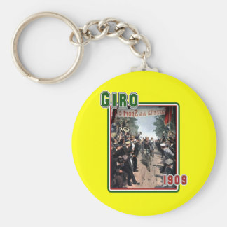 Cycling Giro 1909 Italy flag Retro Vintage Art Basic Round Button Key Ring