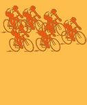 Cycling Group, Orange Design Tshirt