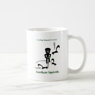 Cycling hazard: kamikaze squirrels coffee mug