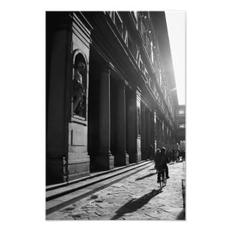 Cycling in Firenze Photo Print