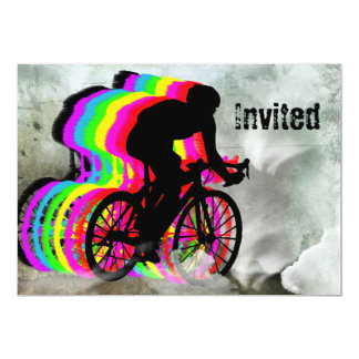 Cycling in the Clouds Card