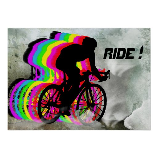 Cycling in the Clouds Poster