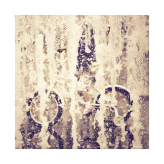 Cycling in the Rain Gallery Wrapped Canvas
