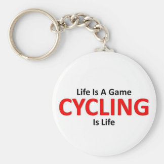Cycling is life key ring