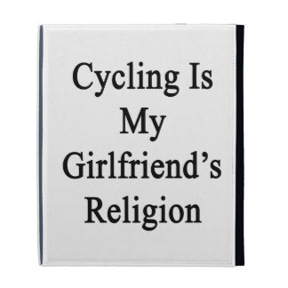 Cycling Is My Girlfriend's Religion iPad Folio Cover
