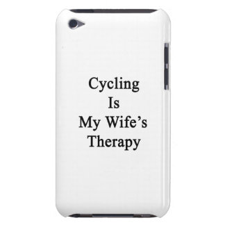Cycling Is My Wife s Therapy Barely There iPod Case
